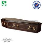 Gama alta qualidade de madeira caixões baratos elevados por atacado