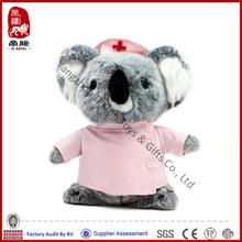 China wholesale stuffed animal custom dressed koala nurse plush toy