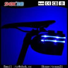 2015 hot sell bicycle bag USB rechargeable led bicycle bag,nylon bicycle bag