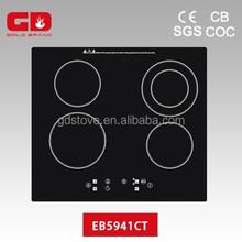 Convenient 220V Four Burner Touch Control Portable Ceramic Hob
