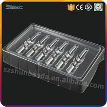 compagnia aerea atlas vassoio usa e getta della bolla imballaggio chiaro blister packaging cosmetico cina shenzhen