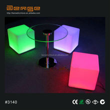 Color changing LED cube chair decoration led cube