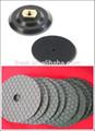 Diamant flexible polierscheiben für marmor, granit, beton, keramik usw. polieren