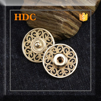 Fashion fancy metal designer press button stock for clothes
