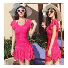 Best selling models sexy backless lace hook flower bikini blouse beach dress swimwear & beachwear