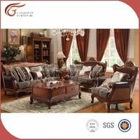 Fashionable hand carved antique sofa set