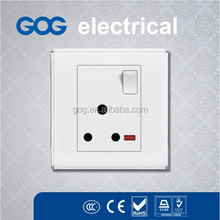 Latest 15A small push button switch and socket, painting color switch for good quality