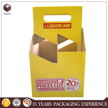 Corrugated cardboard boxes wine carrier