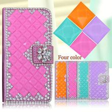 Fashion PU Leather Full Body Crystal Bling Diamond Phone Case for Nextel S520