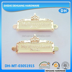 engraved wallet metal logo tag/label for handbags , Garment Tags,Bag Parts & Accessories