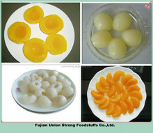 lychee/pear/mandarin/yellow peach/pineapple canned fruit supplier