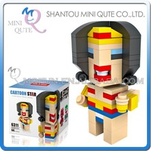 Mini Qute HSANHE 3D Marvel Avenger Cube Wonder Woman Super hero diamond plastic nano building block kid educational toy NO.6311
