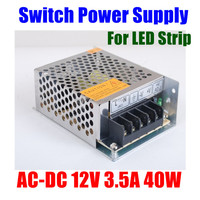 AC 100-240V to DC 12V 3.5A 40W Switching switch Power Supply for strip leds lights cctv camera system