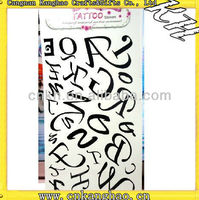letters of an alphabet tattoo stickers
