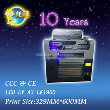 A3 uv flatbed printers powered by ball screw system and servo motor with LCD touch panel