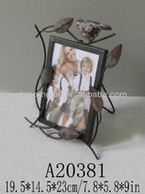 2012 NEW Metal photo frame with a resin bird in branch