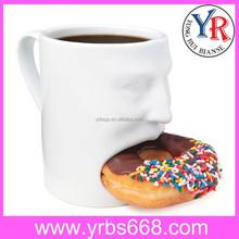 Porcelain Biscuit Cookie Mug Handle
