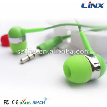 Fun color 3D plastic travel custom earbuds