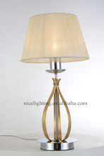 Simple modern house gold table lamp table decoration