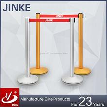 JINKE Innovative aluminium retractable bollard, metal barrier with high quality