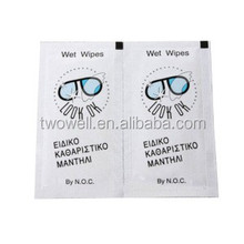 optical wet wipes used to clean computer screen eyeglass