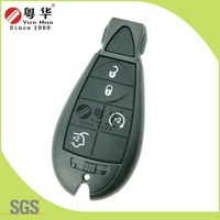 High quality 4 buttons modified folding remote key shell with groove blade