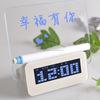 Led luminous message board digital alarm clock, lcd clock with usb hub & memo