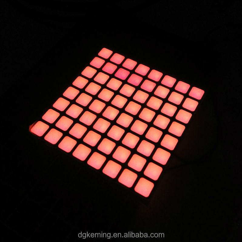 Square led dot matrix display sign 8*8 array rgb led module for lift indicator
