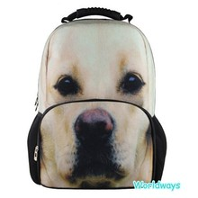 BY-S028 Lovely 3D Dog Pattern Adults Backpack Bag