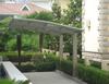 hot sale single basic beautiful arched roof aluminum canopy carports