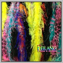 Two Colours Ostrich Feathers Boa In Stock