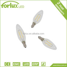 NEW Glass LED bulb double filament 2W 4w