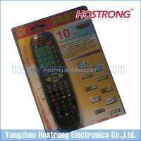 for TV/ TV box/ DVD/ DVR/ Guia/ VOD 10 in 1 universal remote control