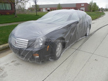 newly clear uv hail sun protection covers for cars plastic car cover