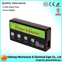 Hotsale Mobile Phone and Tablet 9.6A Output 8 Port USB Charger