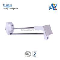 Merchandise retail display security,locking peg chrome security hook for metal pegboard
