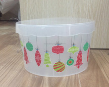 Christmas plastic food container