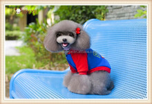 Superman clothes pet dog hoodies for large dogs