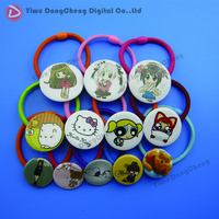 32mm DIY Baby Hair Accessories Rubber Band Buttons