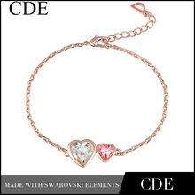 precio directo de fábrica de rosa chapado en oro de joyas pulsera