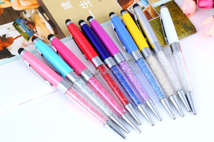 slim 2 In 1 Metal Stylus Touch Pen Multi Colors cheap metal ballpoint pens for hotel use.jpg