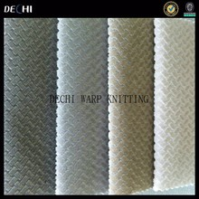 100% polyester knitting Diamond lattice upholstery fabric for sofa