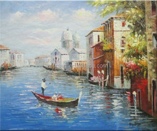 Dafen Oil Painting Village Artists Handmade Impressionist Venice Oil Painting on Canvas for Home Wall Decor
