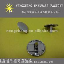 Metal pregos/rebites em branco cor níquel para sacos/acessório do vestuário