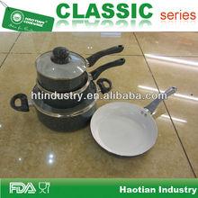 7pcs ceramic coated kitchenware set with spots