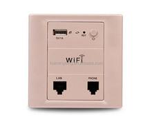 In wall wireless 802.11n AP router, hotel wall mount access point router, 2.4G wall wireless access point
