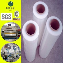 free samples different specifications lldpe stretch film, strong tensile force made in china for outlet