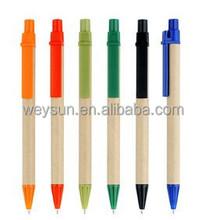 Eco paper pen,platic clip ball pen promotion gift