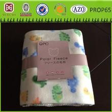 Good quality stripe printed polar fleece blanket with anti-pi