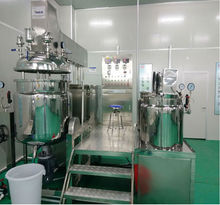 Full automatic Vacuum Homogenizer Emulsifier Cosmetic Cream Mixing Machine